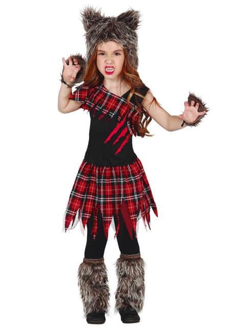 Костюм шотландского волка для девочек
