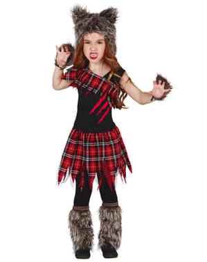 Girls Scottish Wolf kostum