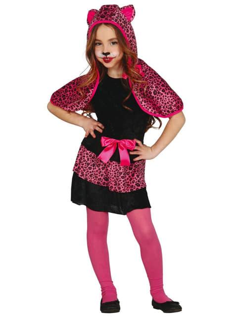 Disfraz de leopardo rosa para niña
