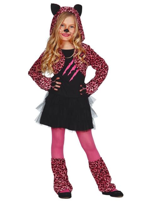 Fato de leopardo fúcsia para menina
