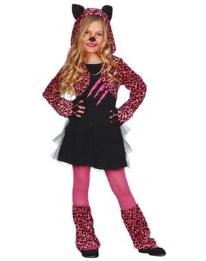 Pink leopardkostume til piger