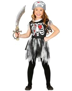 disfraz de esqueleto pirata para nia