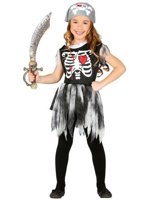 Girls Pirate Skeleton Costume
