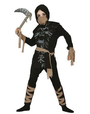 Fato de ninja fantasma infantil