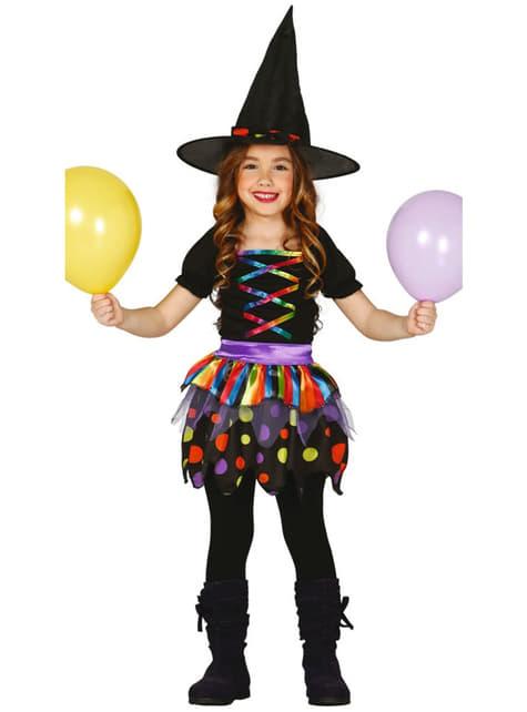 Strój zabawna czarownica dla dziewczynki