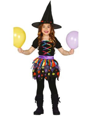 Fato de bruxinha divertida para menina