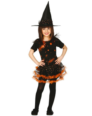 Kostium czarownica gwiazd dla dziewczynki