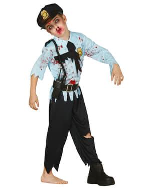 Chlapecký kostým zombie policista