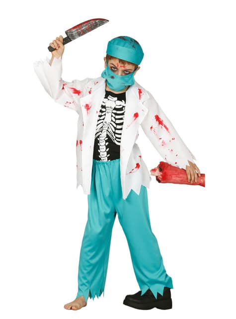 Fato de doutor zombie para menino