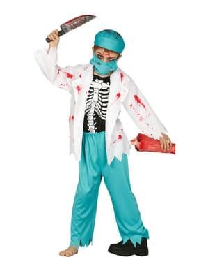 Dječak zombi liječnik kostim