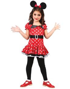 Costume da bella topolina da bambina