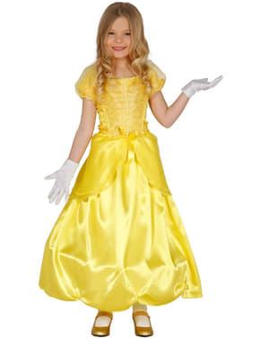 Disfraz de princesa bella para niña