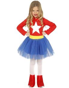 disfraz de herona americana para nia