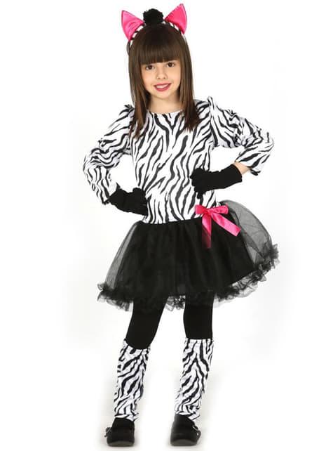 Fato de zebra coquete para menina