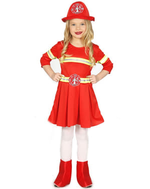 Girls Elegant Firewoman Costume