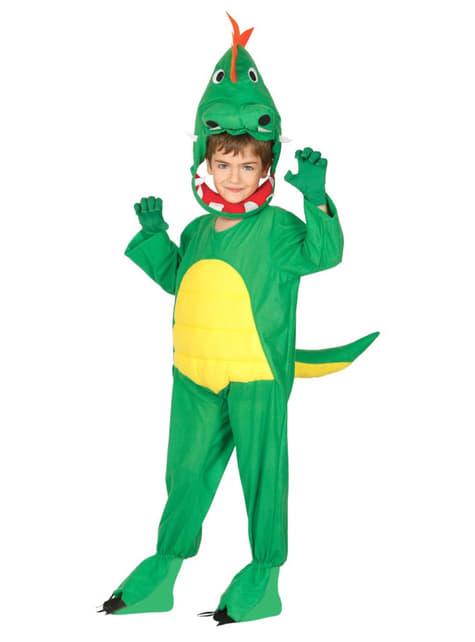 Fato de dinossauro infantil