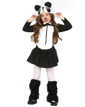 Costum de urs panda pentru fată