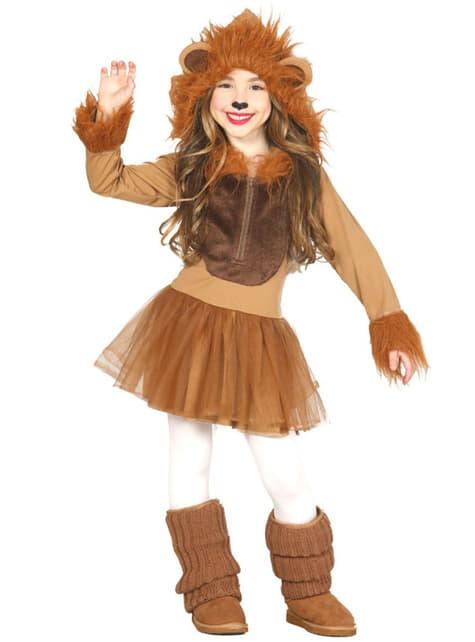 Disfraz de león para niña