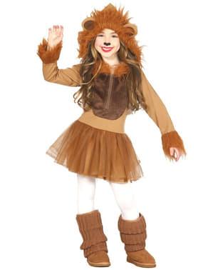 Lányok kis oroszlán jelmez