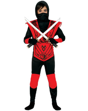 Ninja Kostüm für Jungen rot