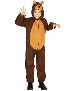 Fato de urso feroz infantil