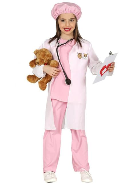 Fato de veterinária para menina