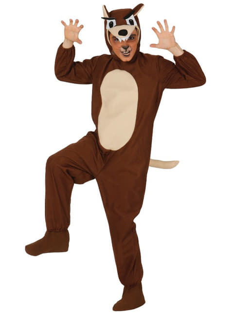 Bruin wolf kostuum voor jongens