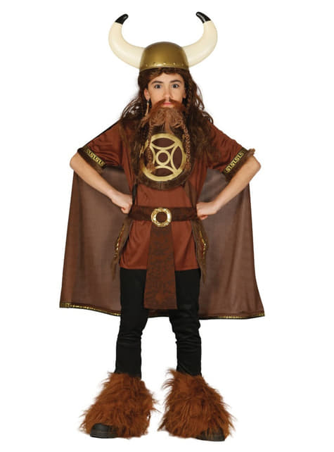 Disfraz de vikingo salvaje para niño