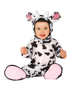 赤ちゃん愛らしい小さな牛衣装