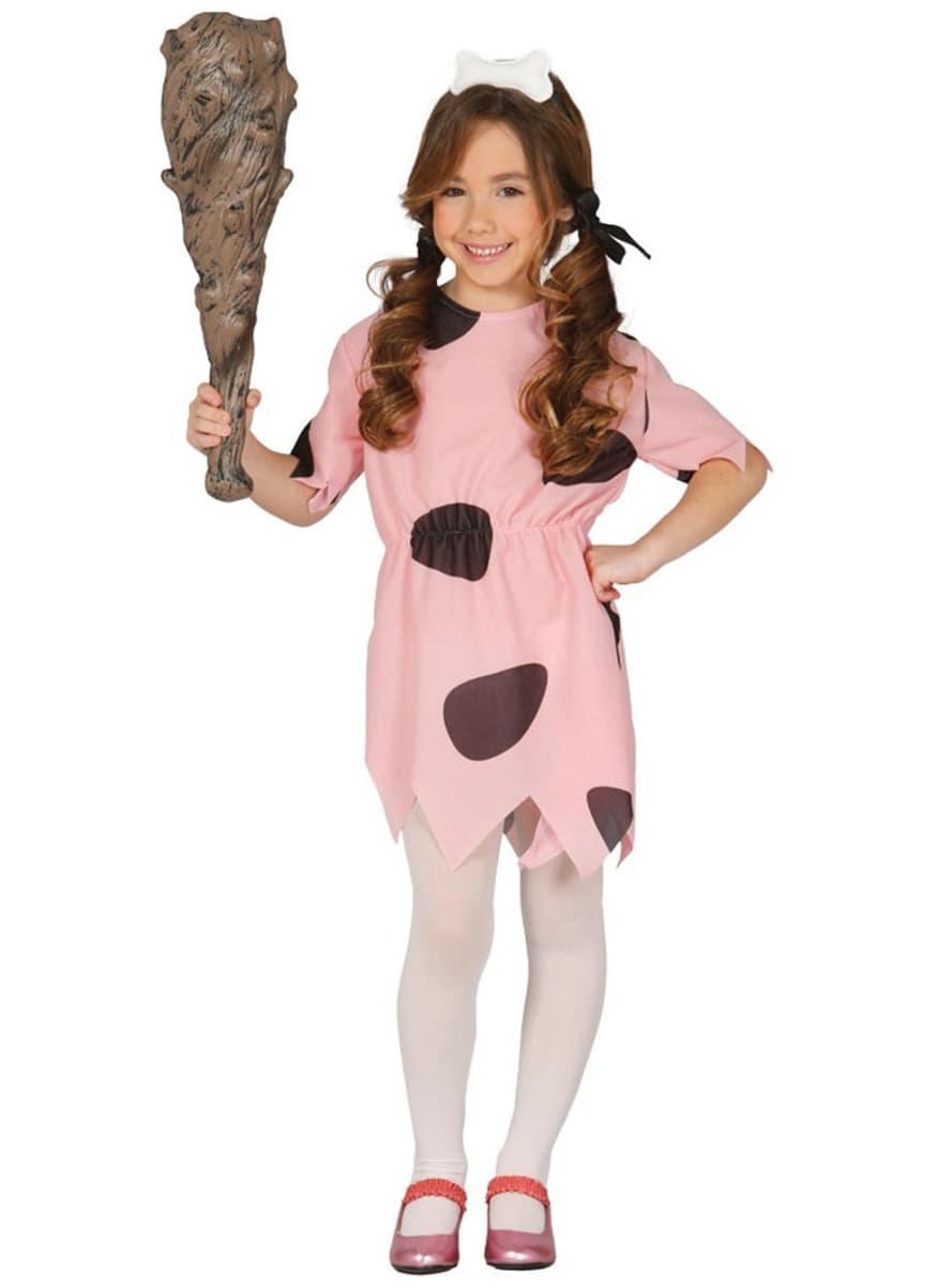 Girls Pebbles Flintstone costume. Detalle Zoom  sc 1 st  Funidelia & Girls Pebbles Flintstone costume