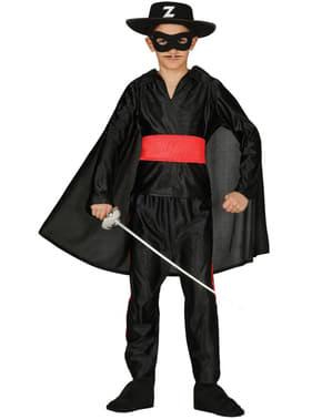 Gemaskerde zorro kostuum voor jongens