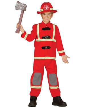 Disfarce de bombeiro para criança