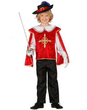 Costume da moschettiere temerario da bambino