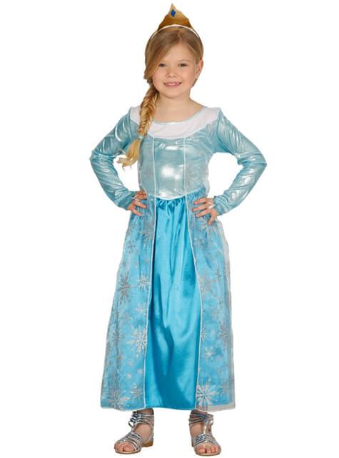 Disfraz de princesa de hielo para niña
