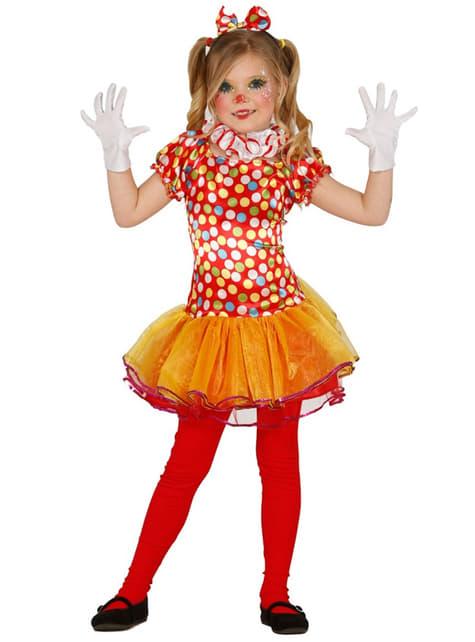 Kostium kolorowa klownica dla dziewczynki