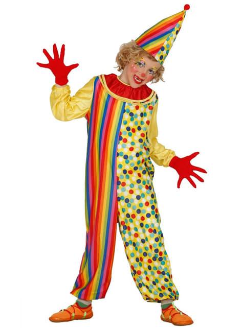 Disfraz de payasito colorido para niño