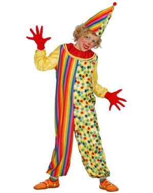 Kleurrijk clownskostuum voor jongens