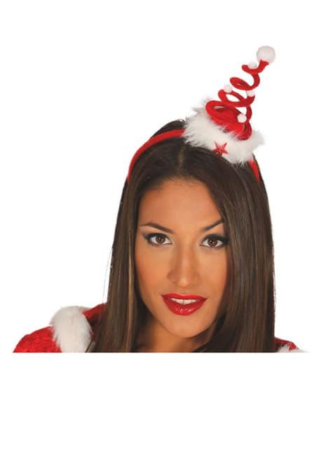 Womens Spiral Christmas Tree Head Bopper