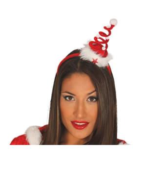 Opaska świąteczna choinka spiralka damska