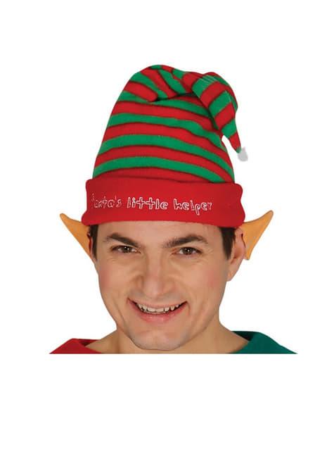 Adults Stripy Elf Hat