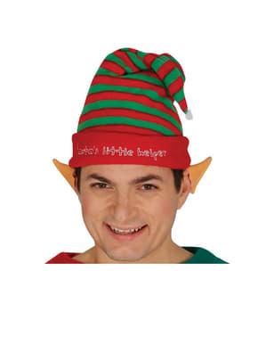 Elfí čepice pro dospělé pruhovaná