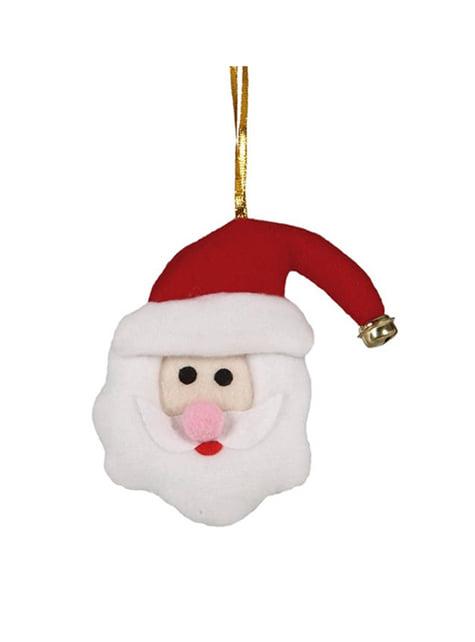 Adorno de cabeça de Pai Natal 11 cm