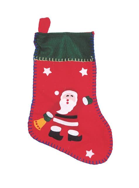 11-cm Vánoční punčocha s potiskem Santy