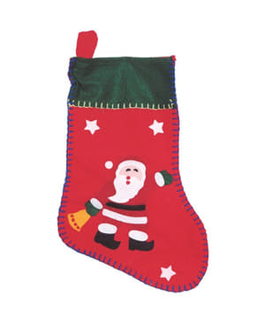 11-cm Santa Print Christmas Stocking