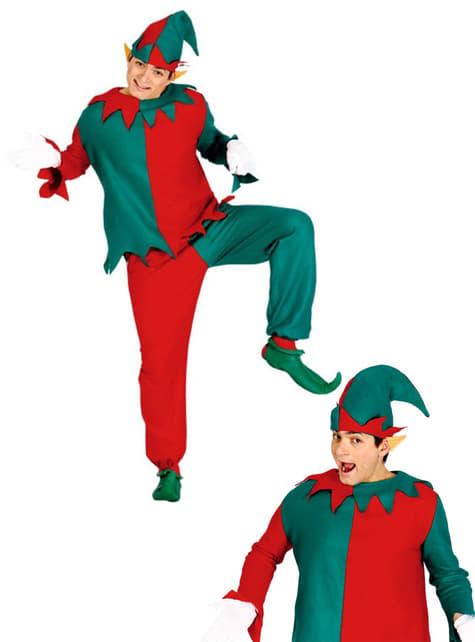 Disfraz de elfo navideño para adulto