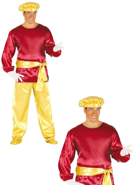Adults Red Page Costume