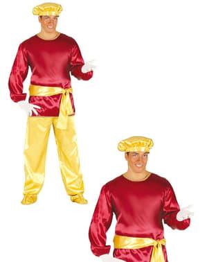 Disfraz de paje rojo para adulto