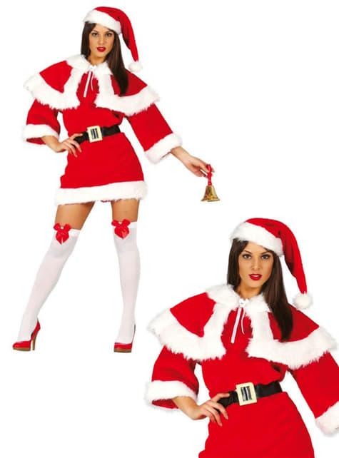 אישה אמא חג המולד Deluxe תחפושת