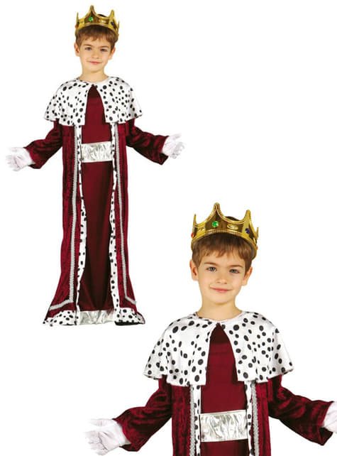 Disfraz de rey mago Gaspar para niño - original