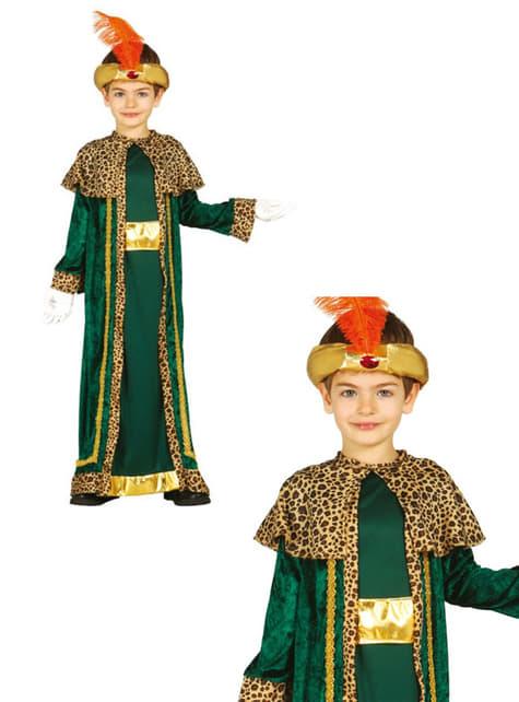 Disfraz de rey mago Baltasar para niño - infantil